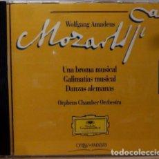 CDs de Música: MOZART - UNA BROMA MUSICAL, GALIMATIAS MUSICAL. Lote 88337986