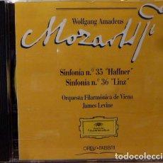 CDs de Música: MOZART - SINFONIA 35 HAFFNER - SINFONIA 36 LINZ. Lote 88337990