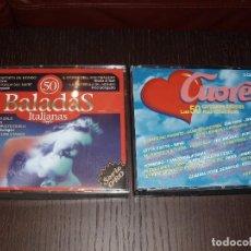 CDs de Música: CD BALADAS ITALIANAS CUORE,LO MEJOR,CANCIONES MAS ROMANTICAS 6 DISCOS. Lote 88695180