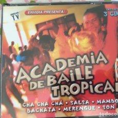 CDs de Música: CD TRIPLE-ACADEMIA DE BAILE TROPICAL. Lote 88772400