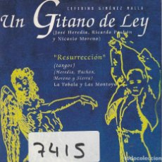 CDs de Música: UN GITANO DE LEY / RESURRECCION / CASAMIENTO GITANO (CD SINGLE CARTON 1987). Lote 88877180