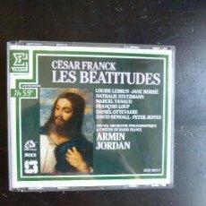 CDs de Música: LES BEATITUDES. CESAR FRANCK. ARMIND JORDAN. ERATO 2CD. 1987. Lote 88900924