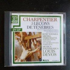 CDs de Música: CHARPENETIER 5 LEÇONS DE TENEBRES DEVOS. ERATO.1986. Lote 88993800