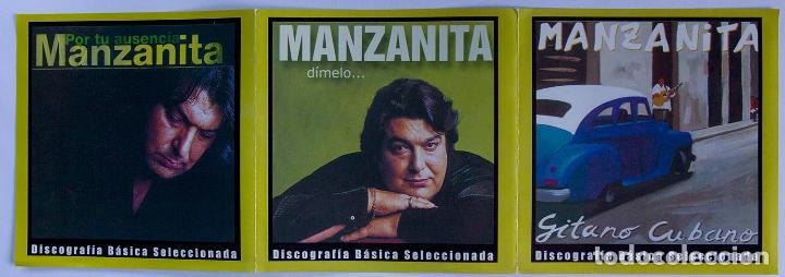 CDs de Música: CD - MANZANITA - CAJA CON 3 CDS - POR TU AUSENCIA / DÍMELO / GITANO CUBANO - DESCATALOGADO - Foto 2 - 89196368