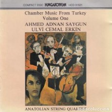 CDs de Música: CHAMBER MUSIC FROM TURKEY. ANATOLIAN STRING QUARTET. 1992. Lote 89232436
