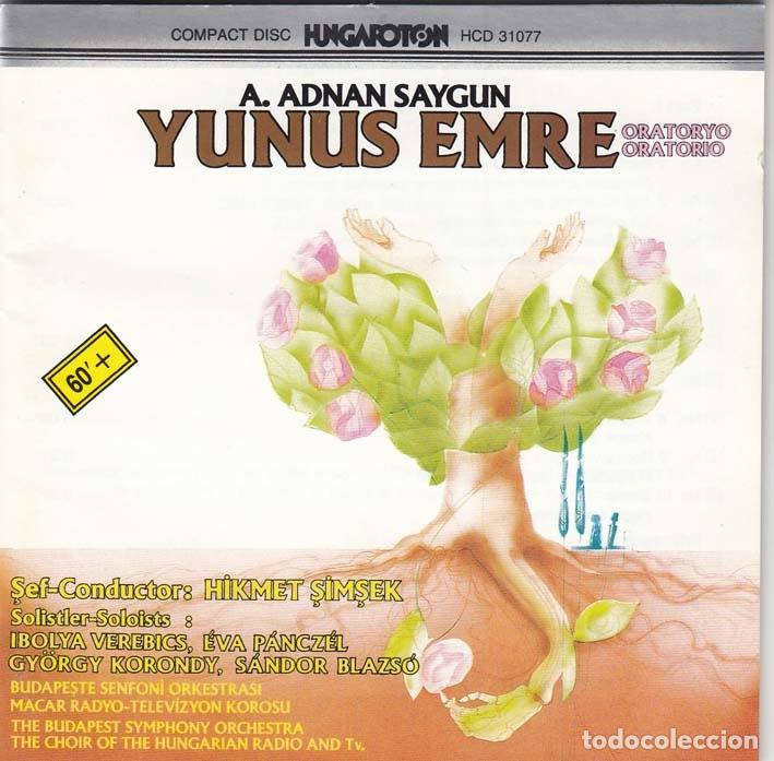 AHMED ADNAN SAYGUN. ORATORIO DE YUNUS EMRE. TURQUIA 1989 (Música - CD's Clásica, Ópera, Zarzuela y Marchas)