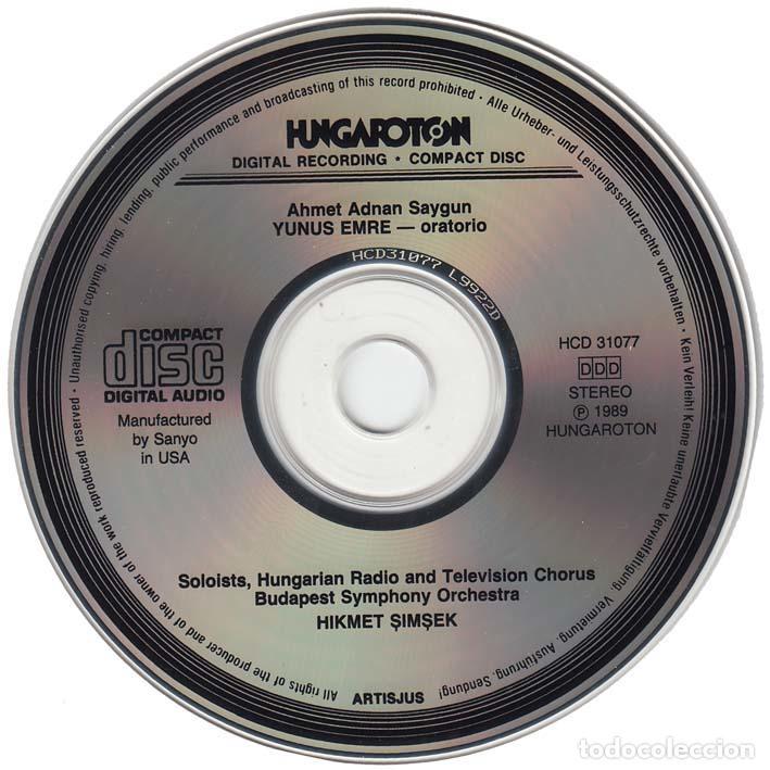 CDs de Música: Ahmed Adnan Saygun. Oratorio de Yunus Emre. Turquia 1989 - Foto 3 - 89232760