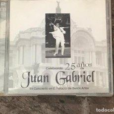 CDs de Música: JUAN GABRIEL CELEBRANDO 25 AÑOS EN EL PALACIO DE BELLAS ARTES DOBLE CD ALBUM 1998 21 TEMAS EN TOTAL. Lote 89292724