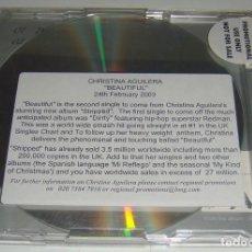 CDs de Música: CD SINGLE - CHRISTINA AGUILERA - BEAUTIFUL - PROMO - . Lote 89333408