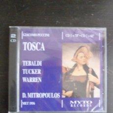 CDs de Música: TOSCA TEBALDI GIAMOCOMO PUCCINI MITROPOULOS MYTO 2004 2CD ¡A ESTENEAR!. Lote 116648442