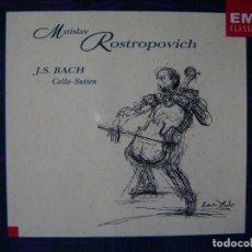 CDs de Música: J.S.BACH.SUITES PARA VIOLONCHELO...MSTISLAV ROSTROPOVICH...DOBLE CD. Lote 89433404