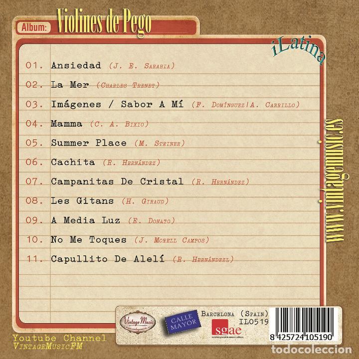 CDs de Música: VIOLINES DE PEGO. Colección iLatina - Foto 2 - 89556672