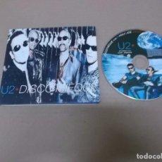 CDs de Música: U2 (CD-SN) DISCOTHEQUE +2 TRACKS AÑO 1997 – PORTADA ABIERTA. Lote 89687296