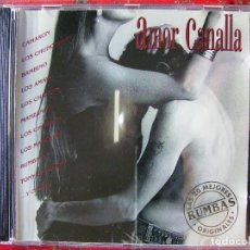 CDs de Música: AMOR CANALLA..LAS 20 MEJORES RUMBAS...BAMBINO-CAMARON-CHICHOS-CHUNGUITOS-LOS AMAYA. Lote 90056868
