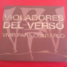 CDs de Música: VIOLADORES DEL VERSO. VIVIR PARA CONTARLO. CD + DVD 14 TEMAS.. Lote 90173744