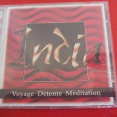 CDs de Música: INDIA. VOYAGE DÉTENTE MÉDITATION. ERIC ARON CD ÁLBUM 10 TEMAS ARTS TRADITIONS MUSIQUES MEDITACION. Lote 278179933