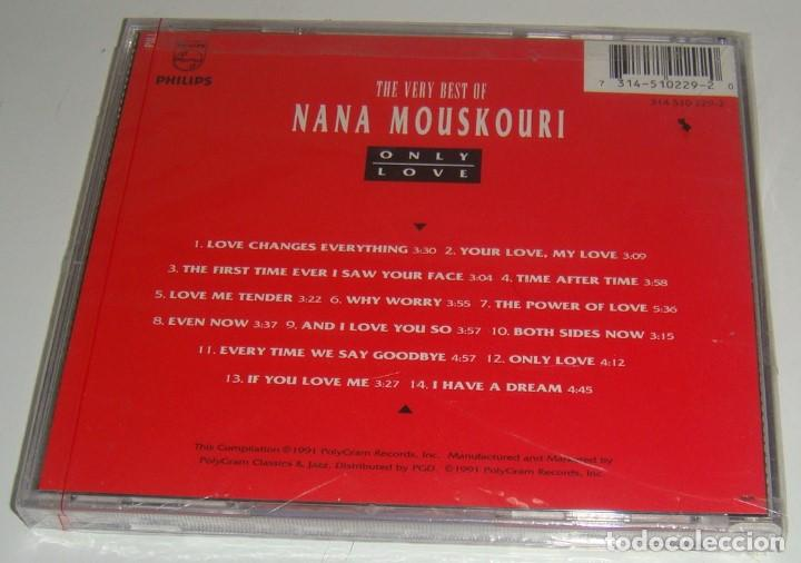 CDs de Música: CD - NANA MOUSKOURI - ONLY LOVE - NUEVO Y PRECINTADO - MADE IN USA - THE VERY BEST OF NANA MOUSKOURI - Foto 2 - 90356104