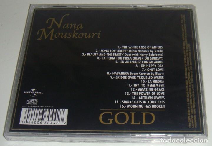 CDs de Música: CD - NANA MOUSKOURI - GOLD - NUEVO Y PRECINTADO - MADE IN COLOMBIA - NANA MOUSKOURI - GRANDES EXITOS - Foto 2 - 90356296