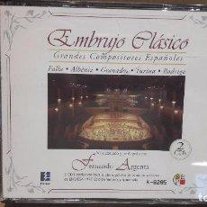 CDs de Música: EMBRUJO CLÁSICO. GRANDES COMPOSITORES ESPAÑOLES. DOBLE CD / EDICIÓN LIMITADA / LUJO.. Lote 90389844