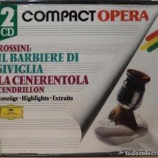 CDs de Música: ROSSINI: IL BARBIERI DI SIVIGLIA - LA CENERENTOLA. Lote 90400747