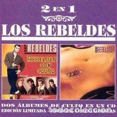 CDs de Música: LOS REBELDES - REBELDES CON CAUSA / LA ROSA Y LA CRUZ (EPIC – EPC 480896 2, CD, 1995) ROCKABILLY. Lote 90478344
