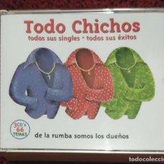 CDs de Música: LOS CHICHOS (TODO CHICHOS - TODOS SUS SINGLES Y EXITOS - DE LA RUMBA SOMOS LOS DUEÑOS) 3 CD'S 2004. Lote 90516675