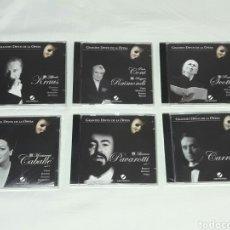 CDs de Música: LOTE DE 6 CDS GRANDES DIVOS DE LA OPERA TODOS EMPAQUETADOS SIN ABRIR. Lote 90524404