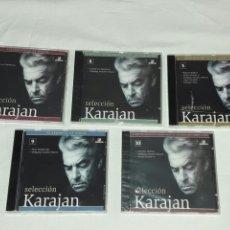 CDs de Música: LOTE DE 5 CDS SELECCION KARAJAN TODOS EMPAQUETADOS SIN ABRIR. Lote 90525050