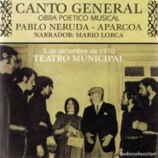 CDs de Música: CD CANTO GENERAL PABLO NERUDA - APARCOA . Lote 132458166