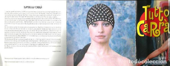 CDs de Música: DOBLE CD RAFFAELLA CARRÀ : TUTTO CARRÀ (EDICION SONY MUSIC ESPAÑA, 1999) EN ESPAÑOL ITALIANO, INGLES - Foto 4 - 90913730