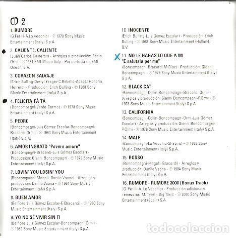 CDs de Música: DOBLE CD RAFFAELLA CARRÀ : TUTTO CARRÀ (EDICION SONY MUSIC ESPAÑA, 1999) EN ESPAÑOL ITALIANO, INGLES - Foto 6 - 90913730