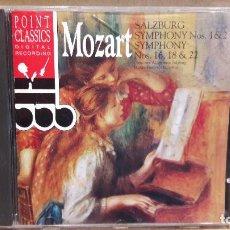 CDs de Música: MOZART. SALZBURG. SYMPHONY Nº 1 Y 2 - 16, 18 Y 22. CD / POINT CLASSICS / LUJO.. Lote 91428480
