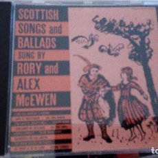 CDs de Música: SCOTTIS SONGS AND BALLADS CD SUNG BY RORY AND ALEX MCEWEN. Lote 91573925