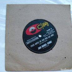 CDs de Música: JOAN MANUEL SERRAT: ULTRA RARO EDITADO EN URUGUAY CON LABEL CLAVE ?? UNICO. Lote 91659060