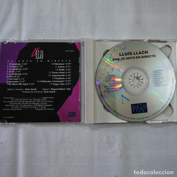 CDs de Música: LLUÍS LLACH - ARA - 25 ANYS EN DIRECTE - 2 CDS 1992 - Foto 2 - 91779240