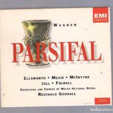 CDs de Musique: WAGNER (REGINAL GOODALL) - PARSIFAL (SET 4CD + LIBRETO 146 PÁGS. 1995, EMI CLASSICS ). Lote 92054730