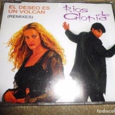 CDs de Música: RIOS DE GLORIA EL DESEO ES UN VOLCAN REMIXES CD SINGLE PROMOCIONAL 1999 5 TEMAS. Lote 92208225