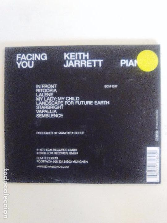 CDs de Música: KEITH JARRETT Facing you ( 1972 ECM 2008 ) DIGIPAK EDICION 40 ANIVERSARIO ECM EXCELENTE ESTADO - Foto 2 - 92225075