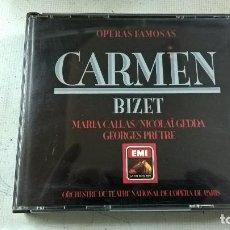 CDs de Música: CARMEN-BIZET-MARIA CALLAS-NICOLAI GEDGA-GEORGES PRETRE-3 CDS-N. Lote 92802480