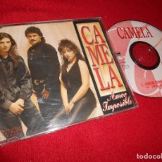 CDs de Música: CAMELA AMOR IMPOSIBLE CD SINGLE 1997 PROMO PROMOCIONAL. Lote 92889595