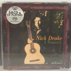 CDs de Música: NICK DRAKE - A TREASURY - SACD - 2004 - ISLAND RECORDS - EX+/EX+. Lote 92944990