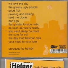 CDs de Música: HEFNER / WE LOVE THE CITY (CD EVERLASTING RECORDS). Lote 92989220