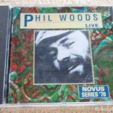 CDs de Música: PHIL WOODS ( PHIL WOODS LIVE ) 1991 - GERMANY RCA . Lote 93069195