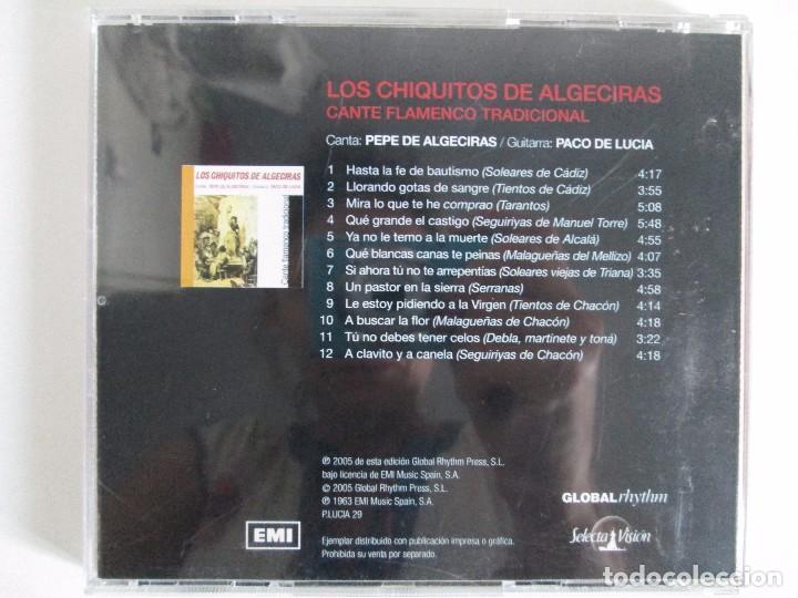 CDs de Música: LOS CHIQUITOS DE ALGECIRAS. CANTE FLAMENCO TRADICIONAL. PEPE DE ALGECIRAS. PACO DE LUCIA. 6 CD´S. - Foto 5 - 93118120