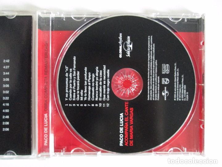 CDs de Música: LOS CHIQUITOS DE ALGECIRAS. CANTE FLAMENCO TRADICIONAL. PEPE DE ALGECIRAS. PACO DE LUCIA. 6 CD´S. - Foto 8 - 93118120