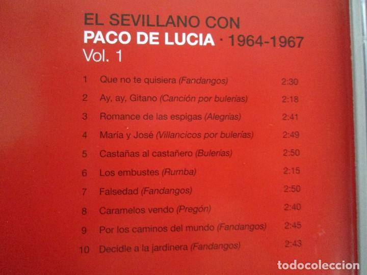 CDs de Música: LOS CHIQUITOS DE ALGECIRAS. CANTE FLAMENCO TRADICIONAL. PEPE DE ALGECIRAS. PACO DE LUCIA. 6 CD´S. - Foto 19 - 93118120