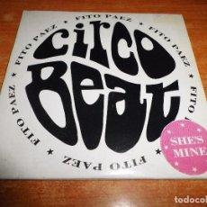 CDs de Música: FITO PAEZ SHE´S MINE CD SINGLE PROMO ARGENTINA DEL ALBUM CIRCO BEAT PORTADA CARTON CONTIENE 1 TEMA. Lote 93166530