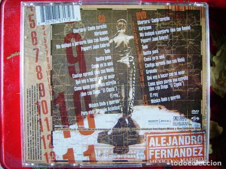 CDs de Música: ALEJANDRO FERNANDEZ.MEXICO-MADRID...CD + DVD - Foto 2 - 93613080