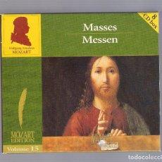 CDs de Musique: MOZART - MASSES / MESSEN (8CD BOX, BRILLANT CLASSICS 99728, VOLUME 15). Lote 93800895