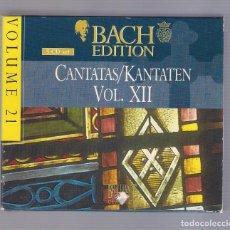 CDs de Musique: BACH - CANTATAS. KANTATEN. VOL. XII (SET 5CD BRILLANT CLASSICS 99380, VOLUME 21). Lote 93802815